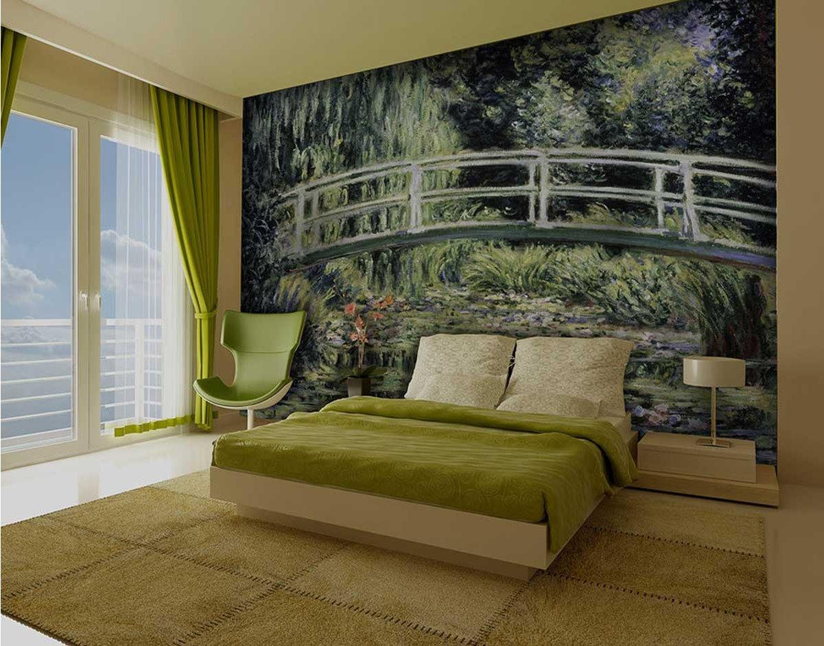 1wall giant japanese bridge wall mural for Bridge wall mural