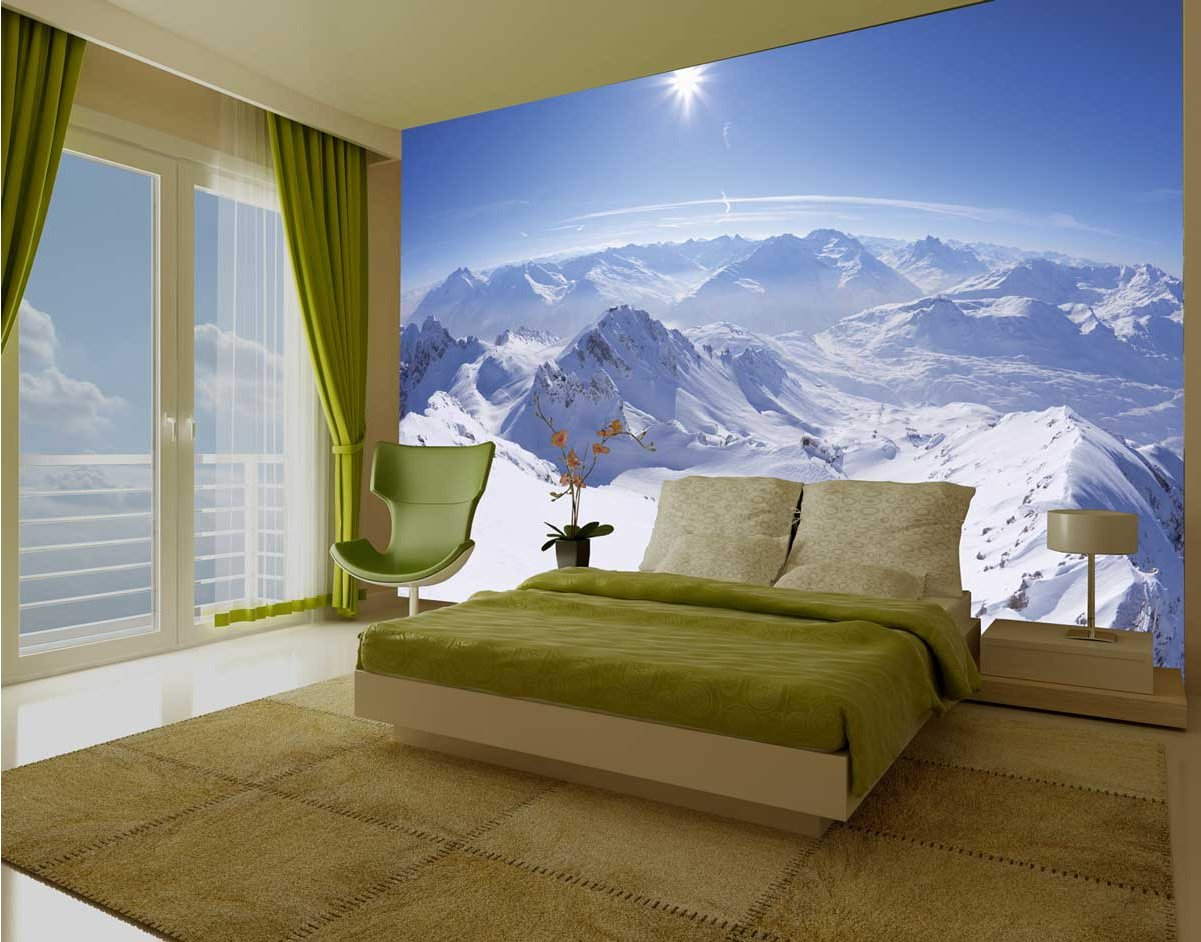 Wall Murals Product : Wall giant snowy alps mural