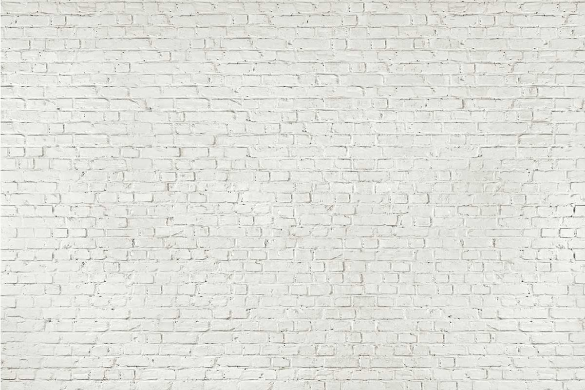 1wall giant white brick effect wall mural for Distressed brick wall mural