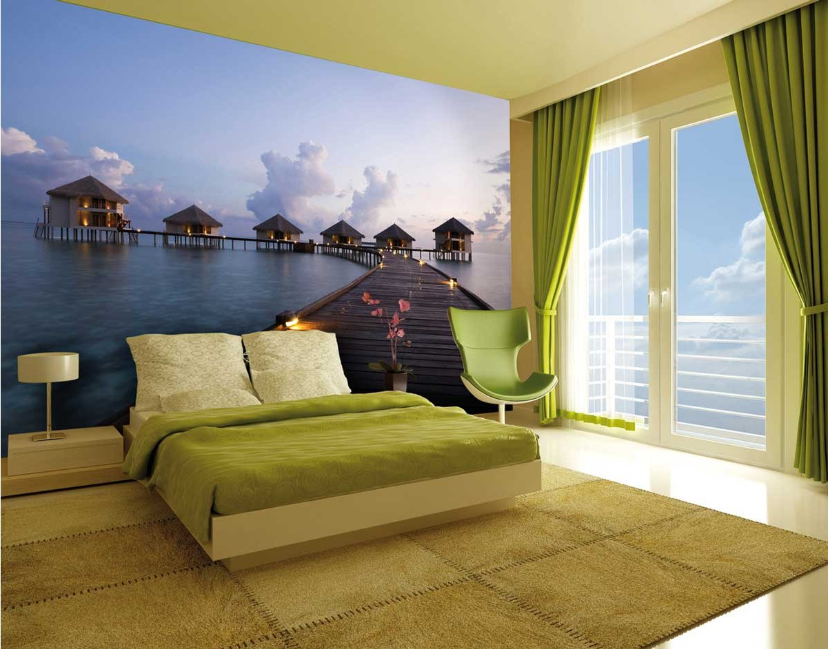 1wall giant maldives wall mural for Celebrity mural
