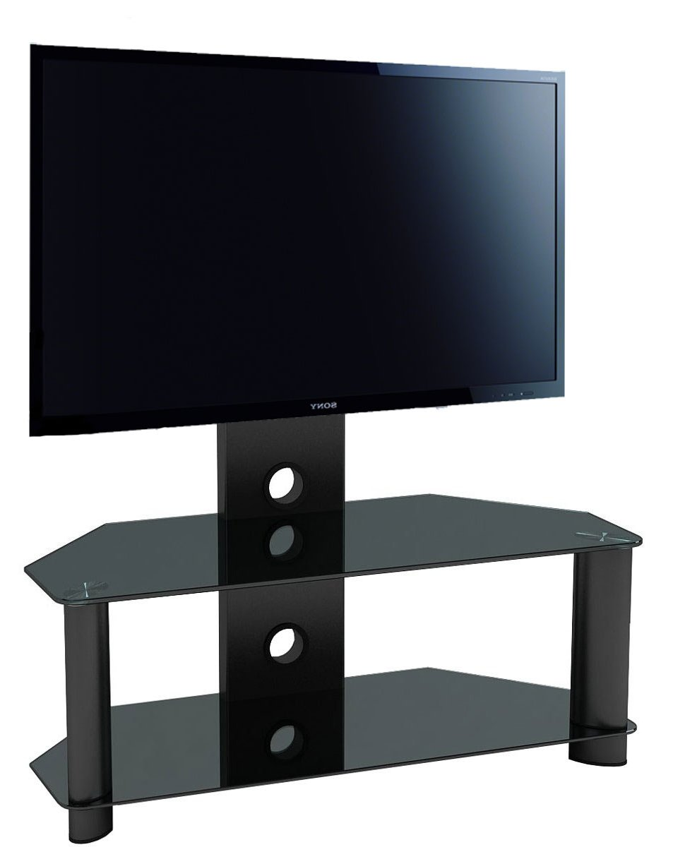 Piano Black Universal Tv Stand For Up To 50 Tvs Main Image