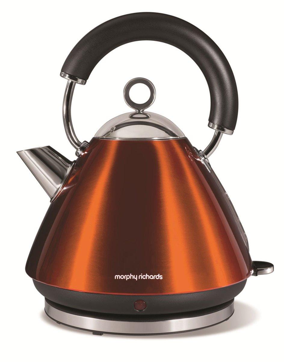 morphy richards 43778 accents copper kettle 1 5l. Black Bedroom Furniture Sets. Home Design Ideas