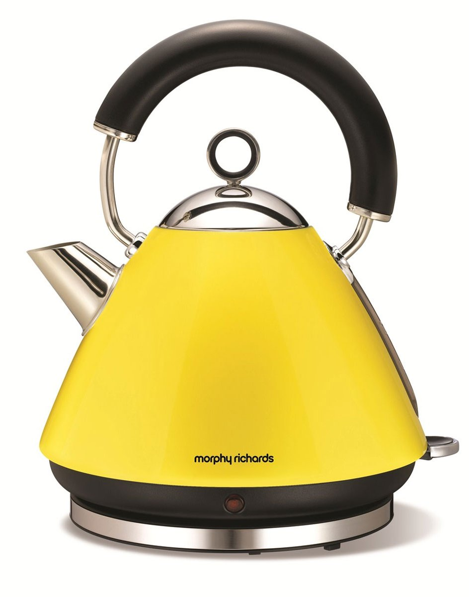 Morphy Richards 43827 Accents Yellow Kettle 1 5l