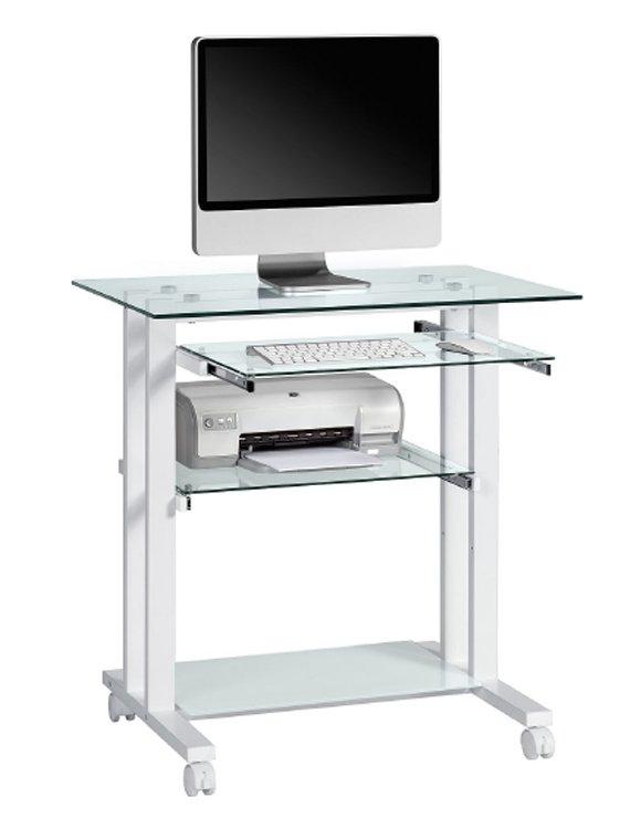 Glass Computer Desk Great Small Glass Top Computer Desk