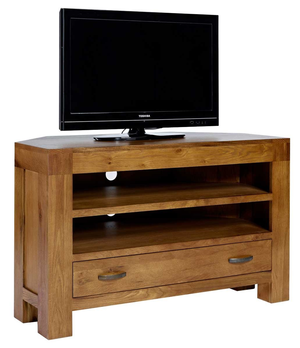 rustic grange santana rustic oak corner tv stand. Black Bedroom Furniture Sets. Home Design Ideas