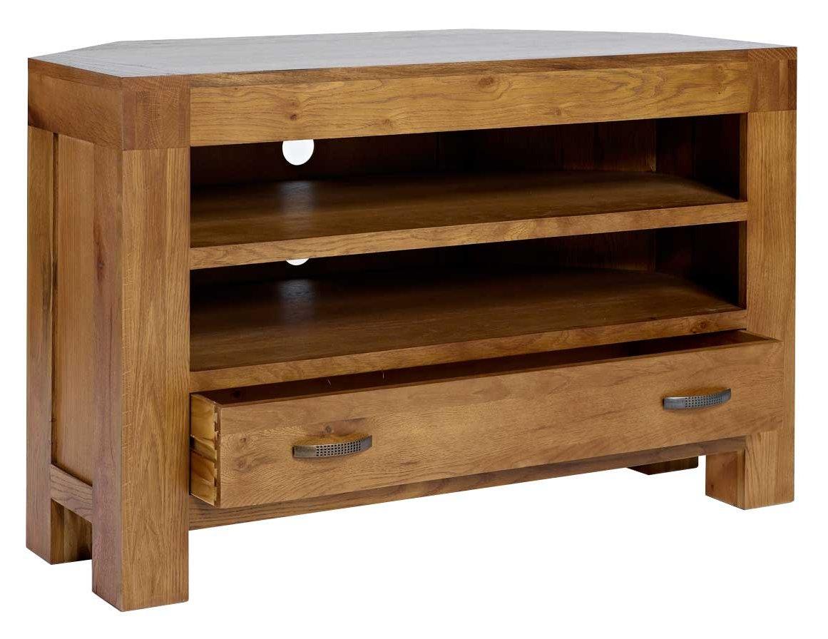 Rustic grange santana rustic oak corner tv stand Rustic tv stands