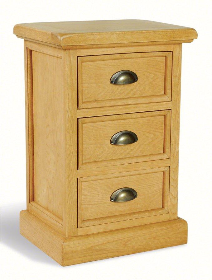 Oak Side Table: Ultimum Somerset Oak Side Table 3 Drawers