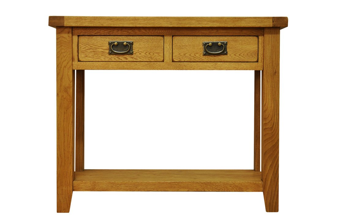 ultimum highfield solid oak console table hover to zoom