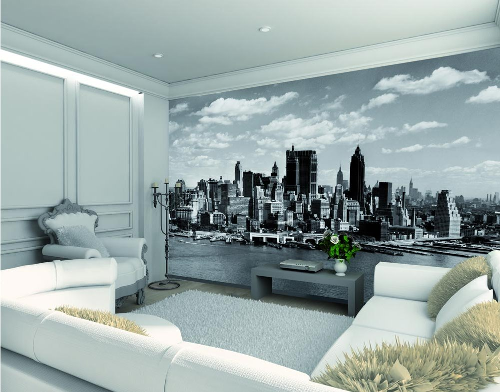 1wall manhattan skyline wall mural for Cityscape wall mural