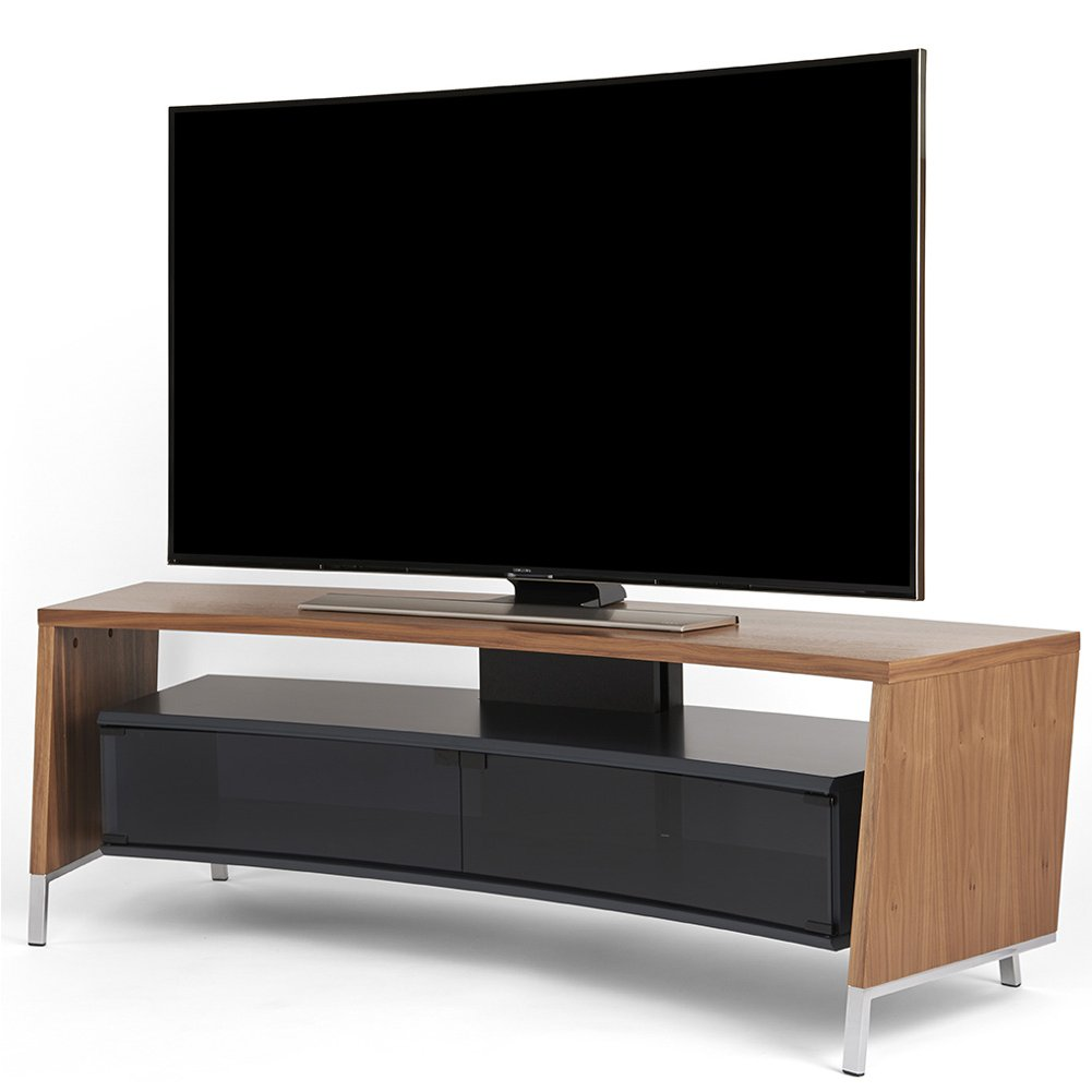 off the wall curve 1500 walnut tv stand. Black Bedroom Furniture Sets. Home Design Ideas