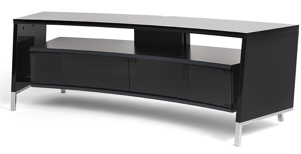 off the wall curve 1500 black tv stand. Black Bedroom Furniture Sets. Home Design Ideas