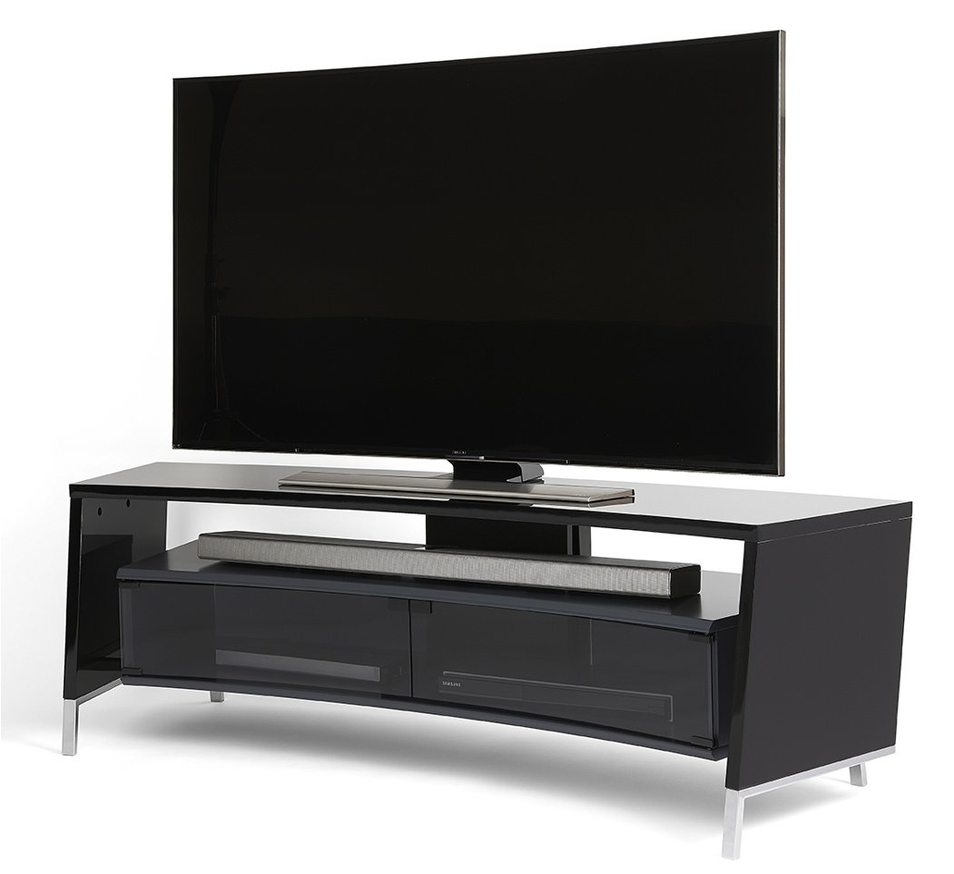 Off The Wall Curve 1500 Black Tv Stand