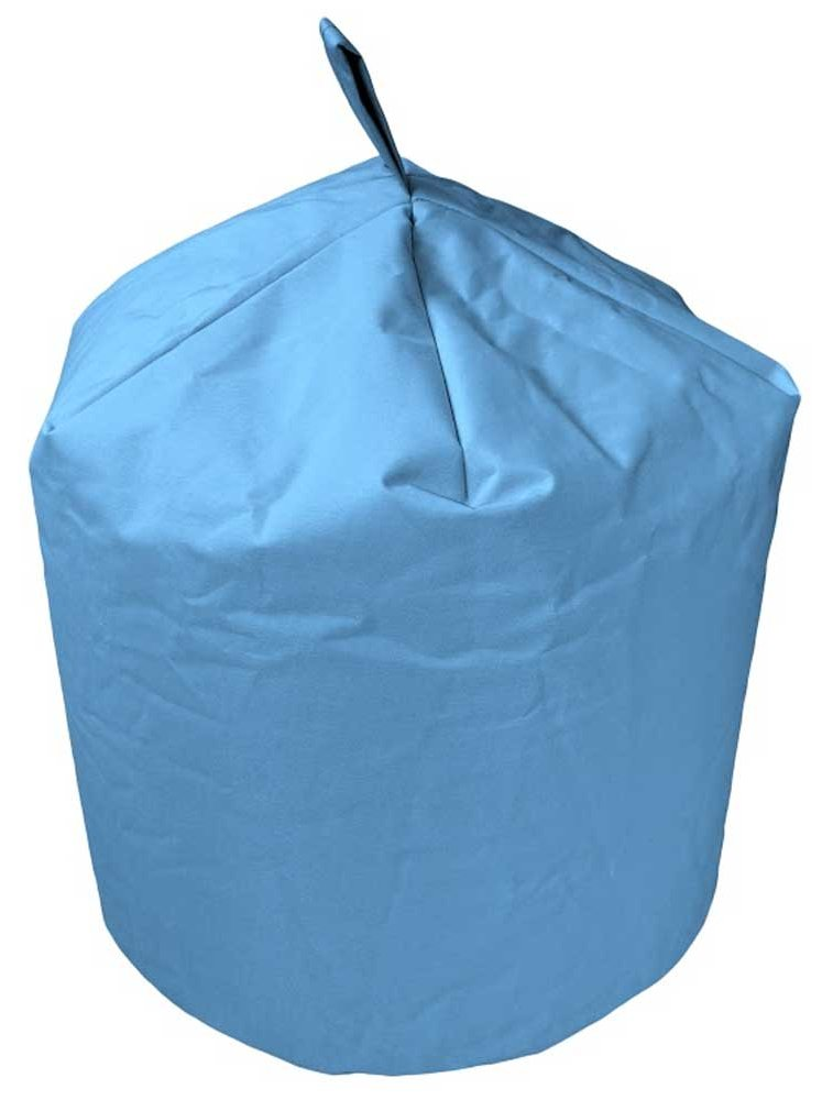 valufurniture classic barrel light blue bean bag