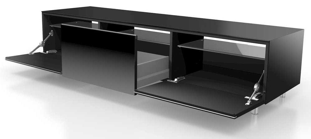 just racks jrl1650s black tv stand. Black Bedroom Furniture Sets. Home Design Ideas