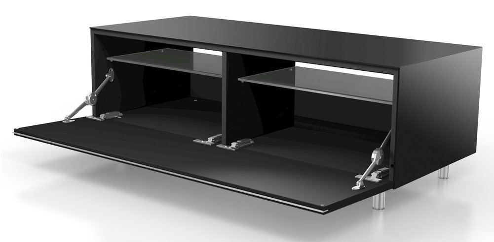 just racks jrl1110s black tv stand. Black Bedroom Furniture Sets. Home Design Ideas