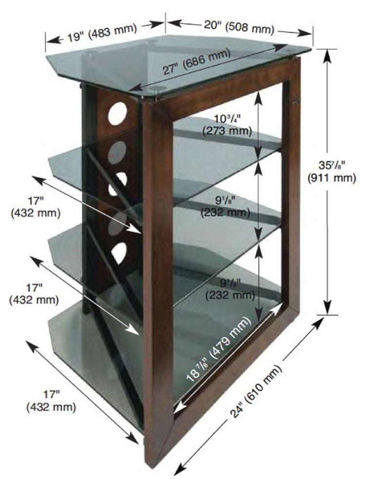 bello at 306 dark wood hifi stand. Black Bedroom Furniture Sets. Home Design Ideas