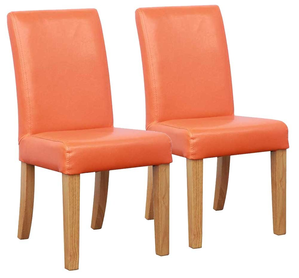 Shankar bambi kids dining chairs in orange for Orange kids chair
