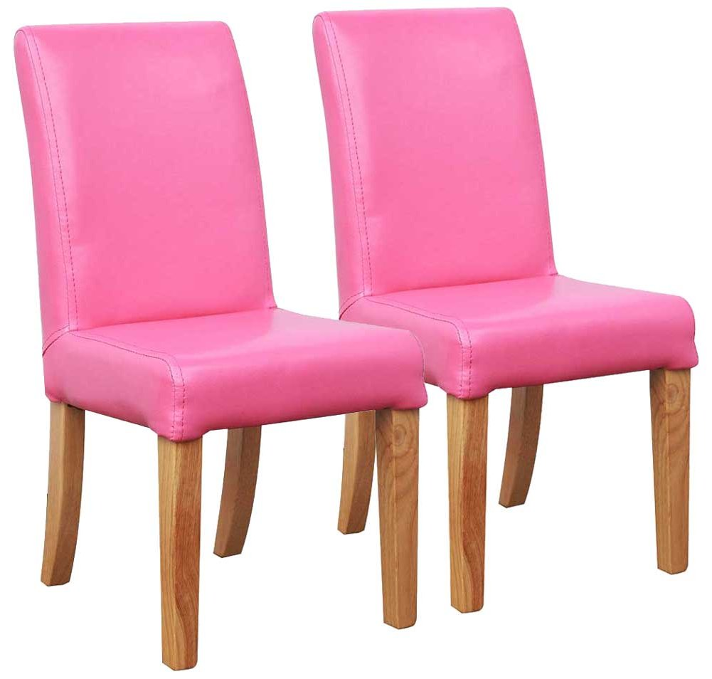 Shankar Bambi Kids Dining Chairs In Pink