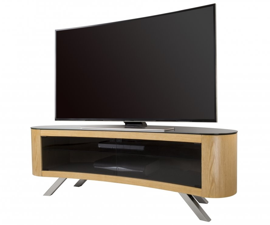 AVF Bay Curved TV Stand In Oak Main Image