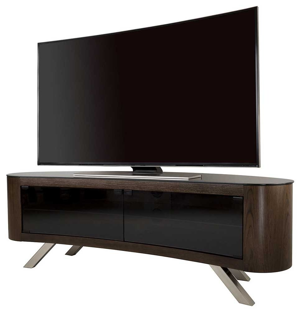 Avf Bay Curved Tv Stand In Walnut