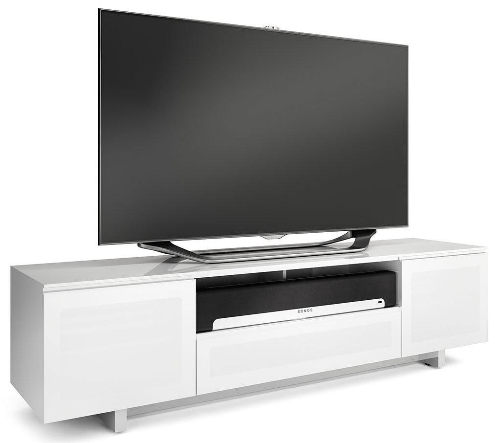 bdi nora slim white gloss tv cabinet. Black Bedroom Furniture Sets. Home Design Ideas