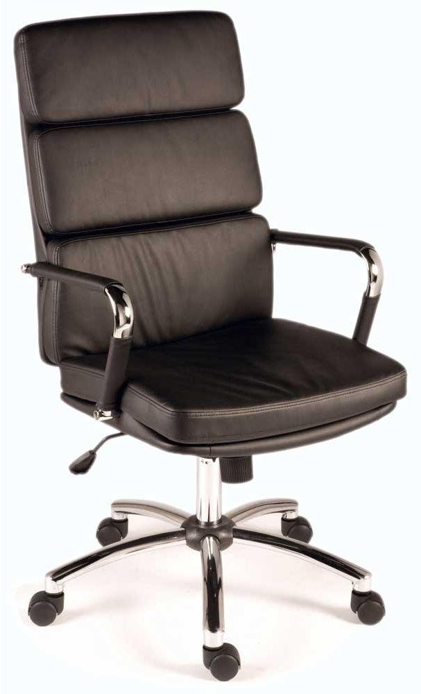 teknik deco executive black office chair