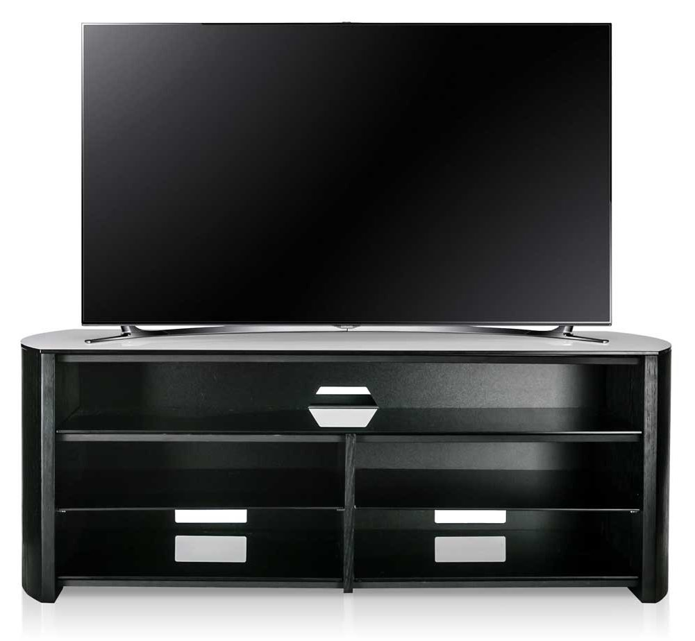 Alphason Finewoods Fw1350sb B Black Tv Stand With Soundbar