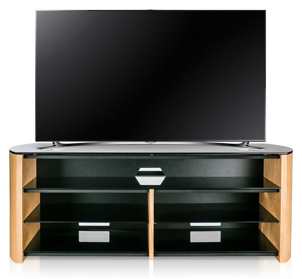 alphason finewoods oak tv stand with soundbar shelf. Black Bedroom Furniture Sets. Home Design Ideas