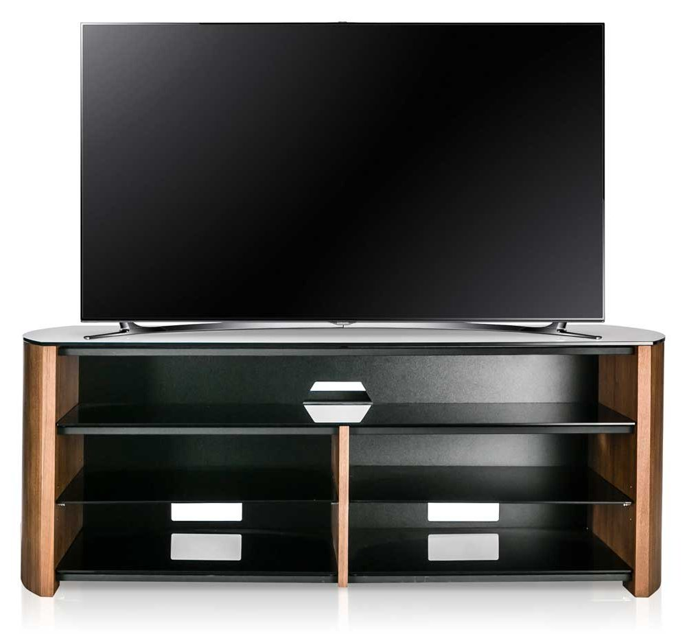 alphason finewoods fw1350sb w walnut tv stand with. Black Bedroom Furniture Sets. Home Design Ideas