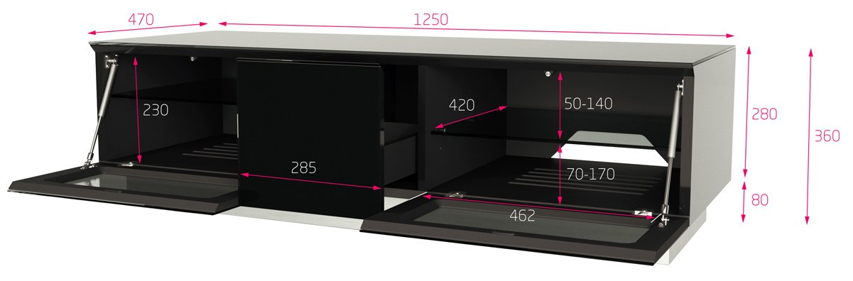 Alphason Element Modular 1250 White Tv Stand For Up To 60 Quot Tvs