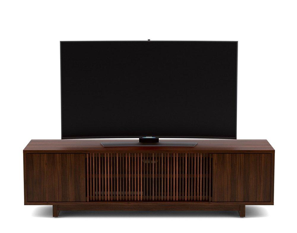 Bdi Vertica Chocolate Oak Low Tv Stand