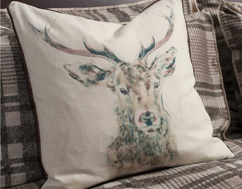 Gallery stag cushion watercolour main image