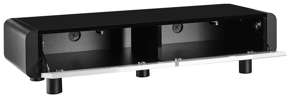 schnepel elf l120 black white tv stand. Black Bedroom Furniture Sets. Home Design Ideas