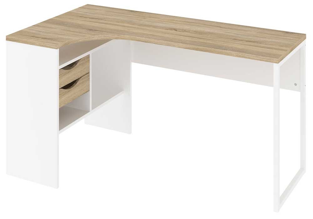 Tvilum Function Plus 80118 Oak White Corner Desk