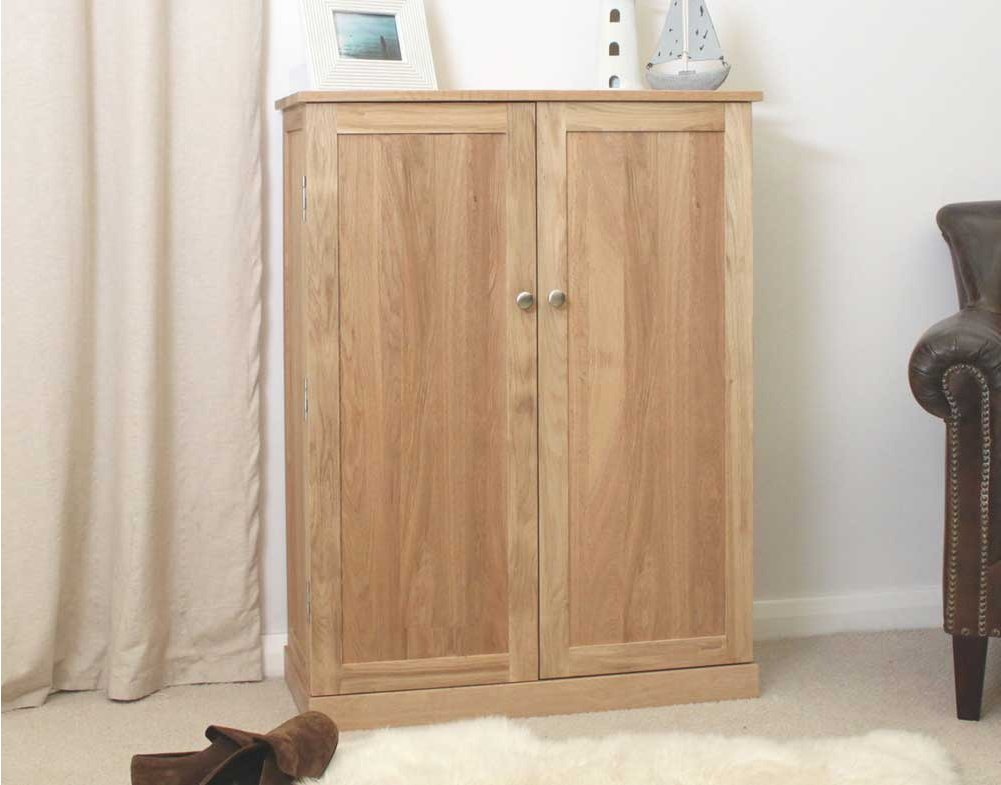 mobel oak large shoe cupboard main image alternative image
