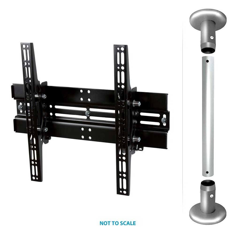 """Wall Mounts For Tvs B-Tech Floor To Ceiling Mount For Up 55"""" 3m Pole"""