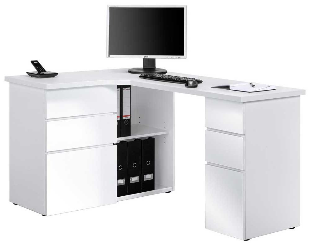 maja 9543 white corner computer desk. Black Bedroom Furniture Sets. Home Design Ideas