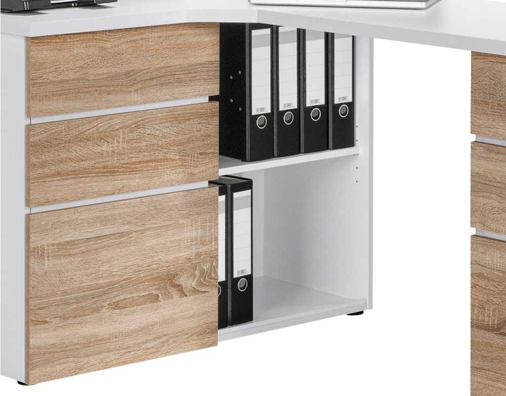 Maja 9543 Sonoma Oak Corner Computer Desk Alternative Image
