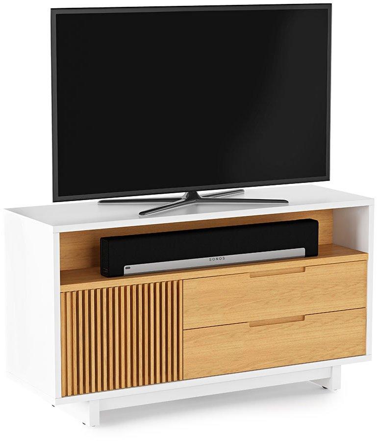 Bdi vertica 8556 oak tv stands Oak tv stands