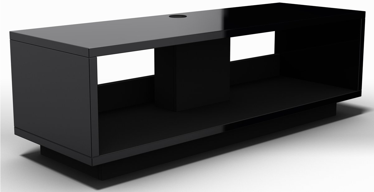 schnepel varic l 2 0 gloss black open tv stands. Black Bedroom Furniture Sets. Home Design Ideas