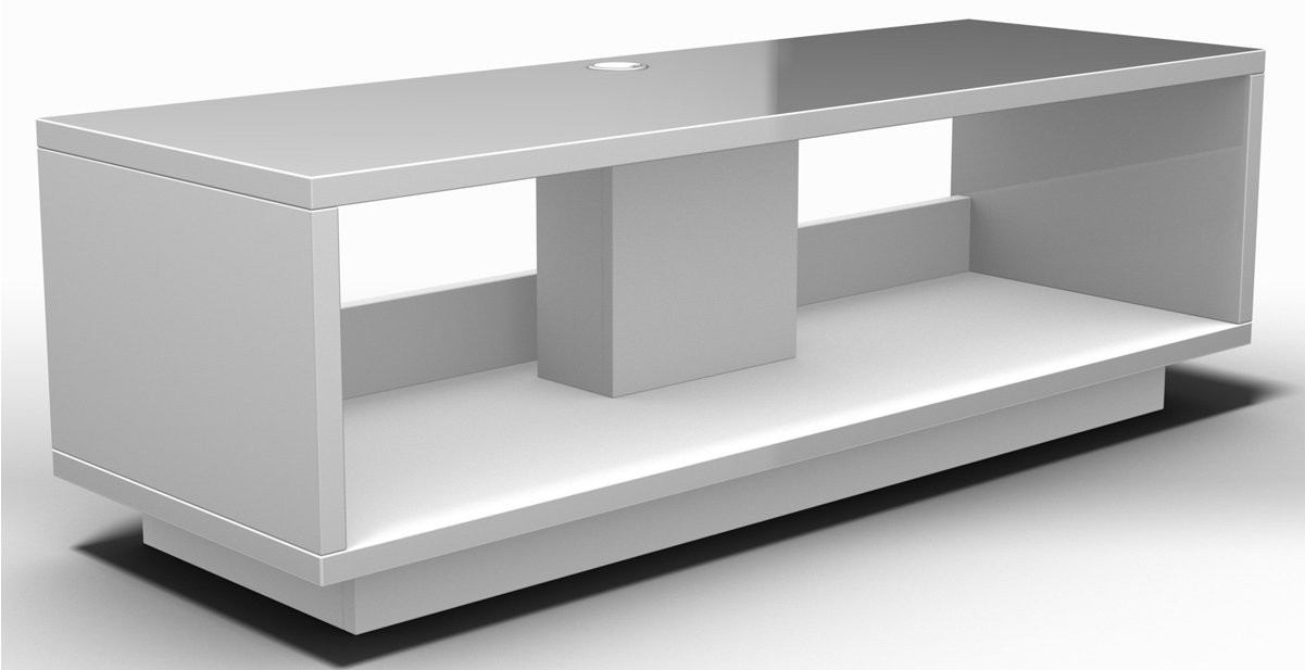 schnepel varic l 2 0 matte white open tv stands. Black Bedroom Furniture Sets. Home Design Ideas