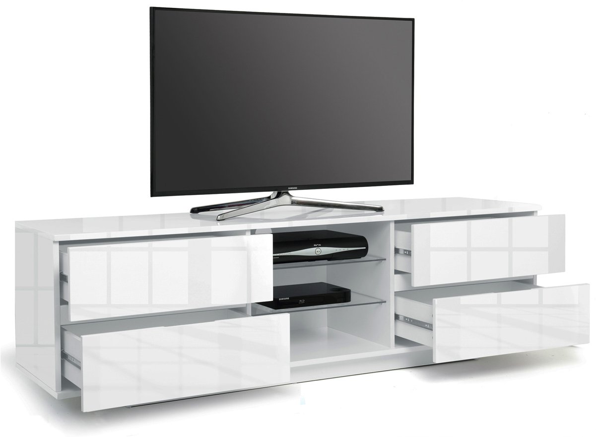 Mda designs avitus white white tv stands for White plasma tv stands