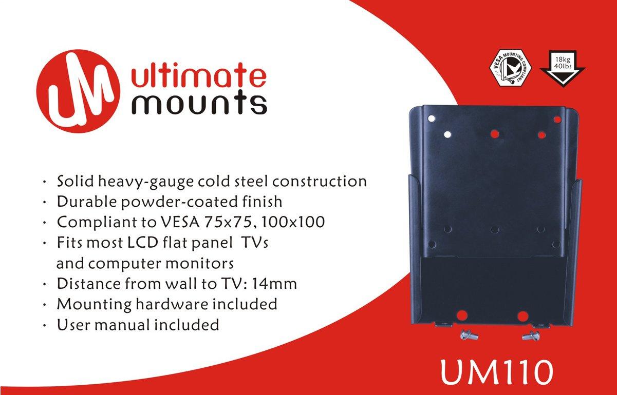 Ultimate Mounts Um110 Flat Tv Wall Brackets