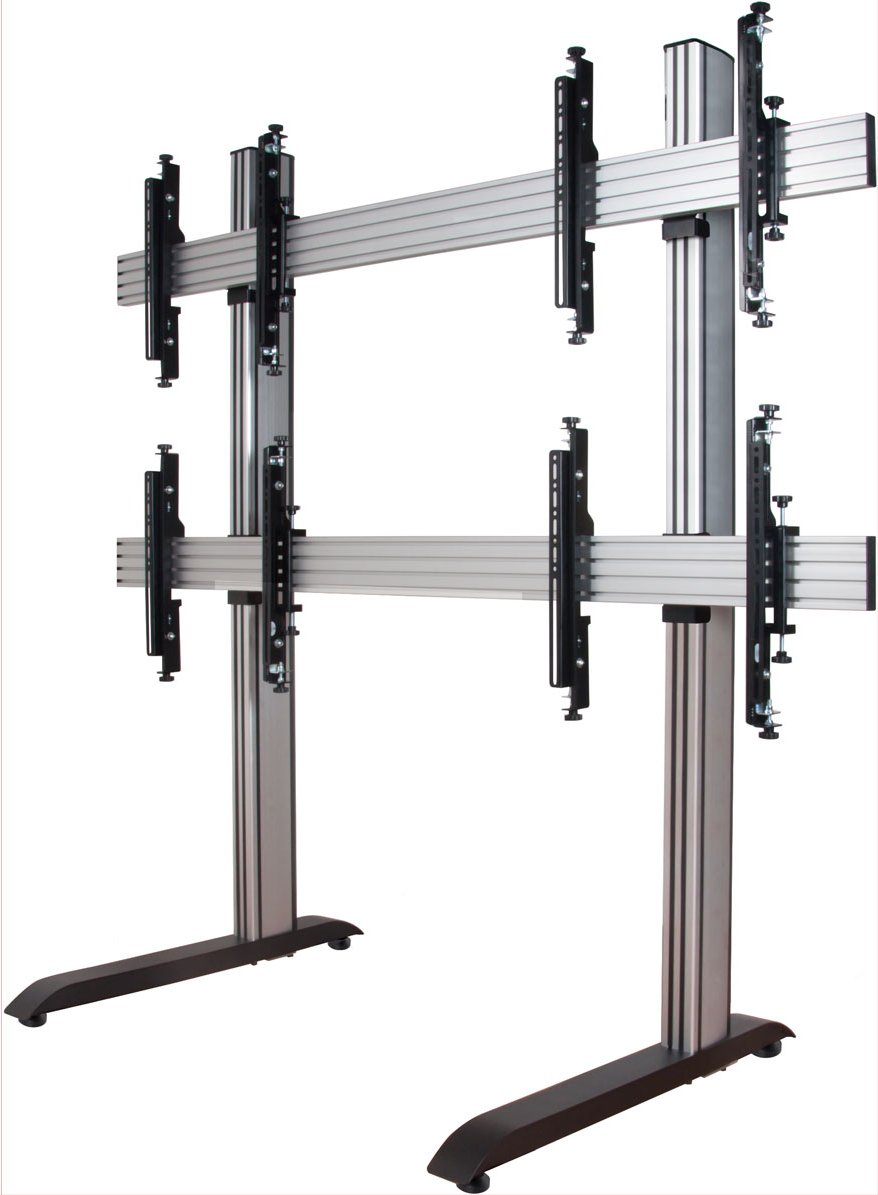 B Tech Bt8370 2x2 Arms System X Video Wall Mount With