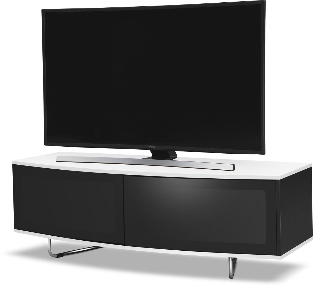 Mda Designs Caru White Tv Stands # Meuble Tv Curved