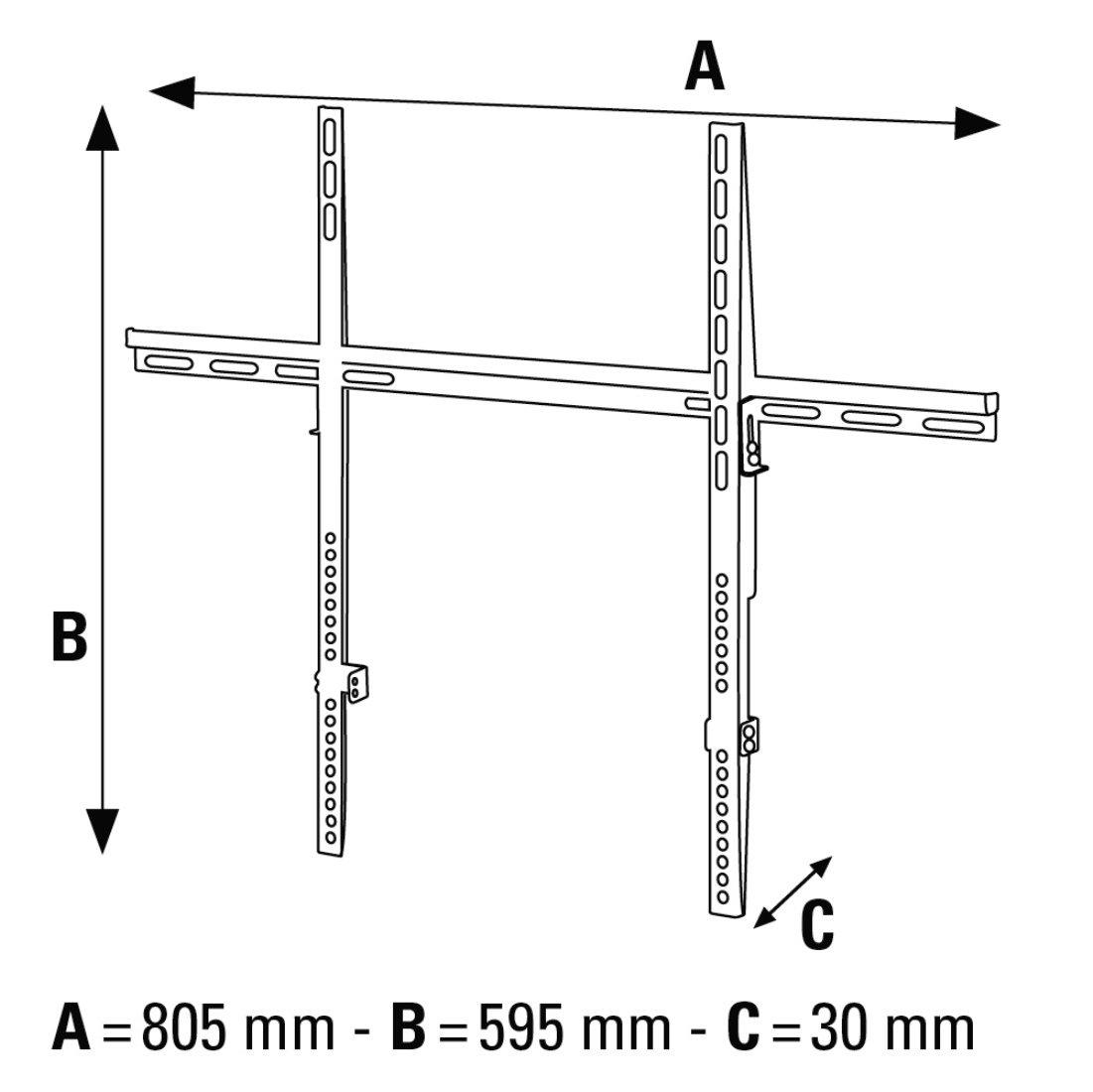 hama products 00012027 tv wall brackets