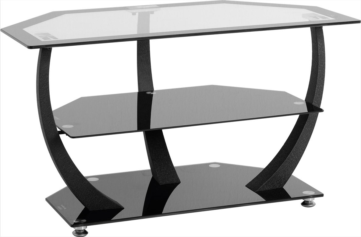 valufurniture henley black glass tv unit tv stands. Black Bedroom Furniture Sets. Home Design Ideas