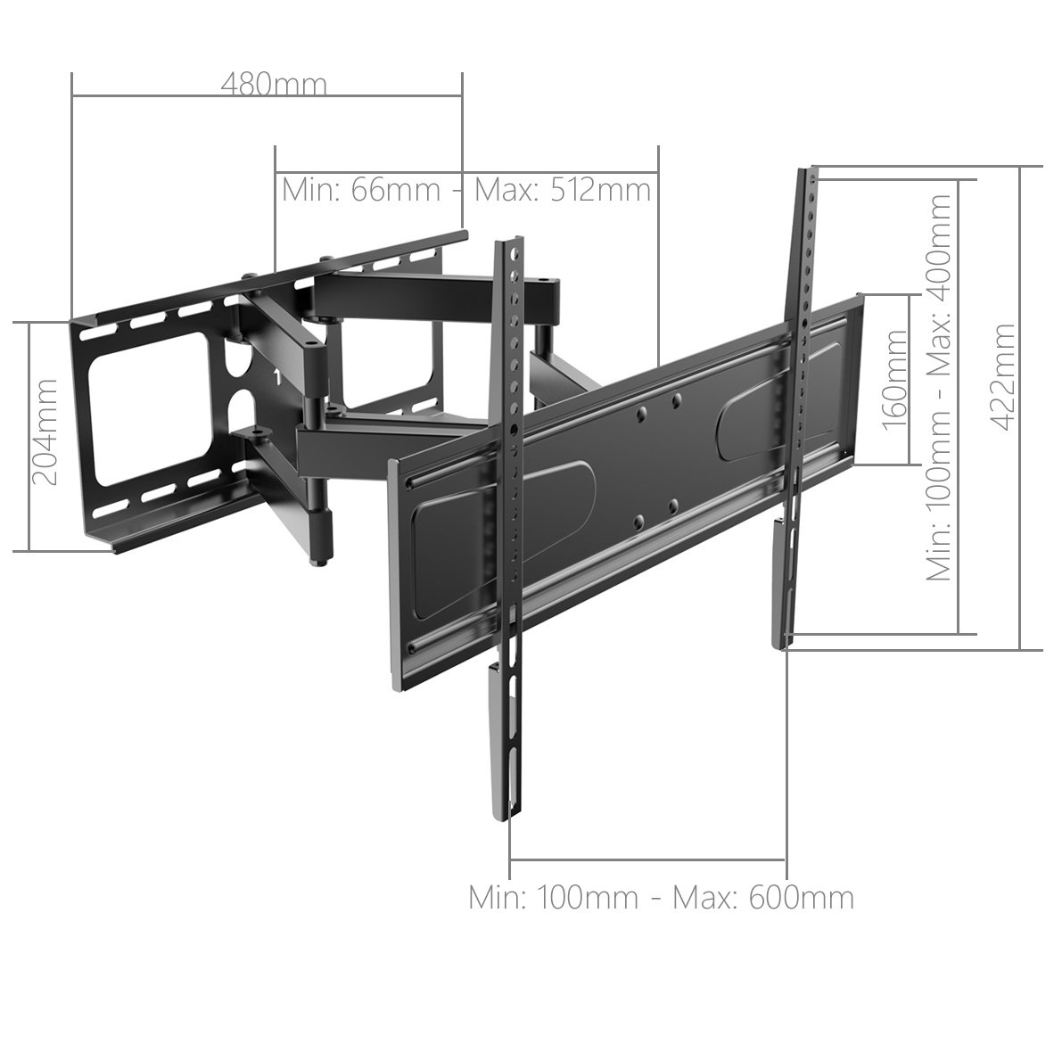 Stealth Mounts Sma04 466d Cantilever Tv Bracket For Up To