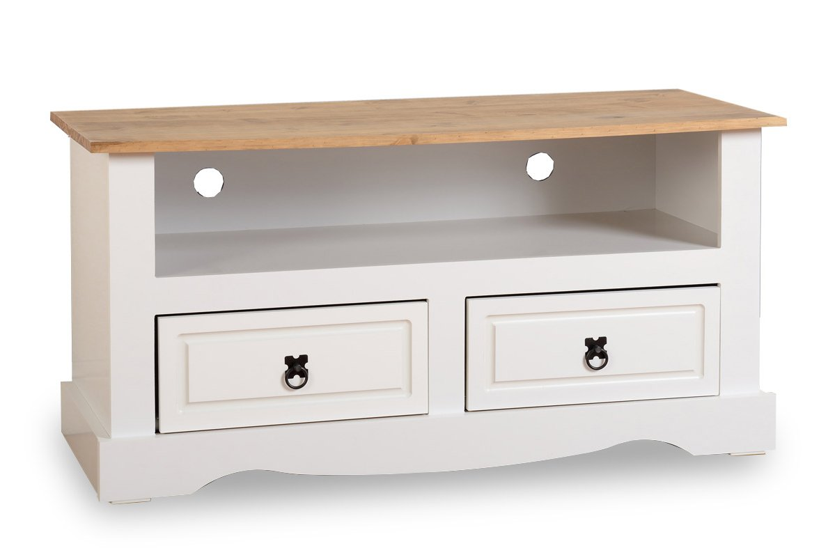 Valufurniture Corona 2 Drawer Tv Unit White Tv Stands