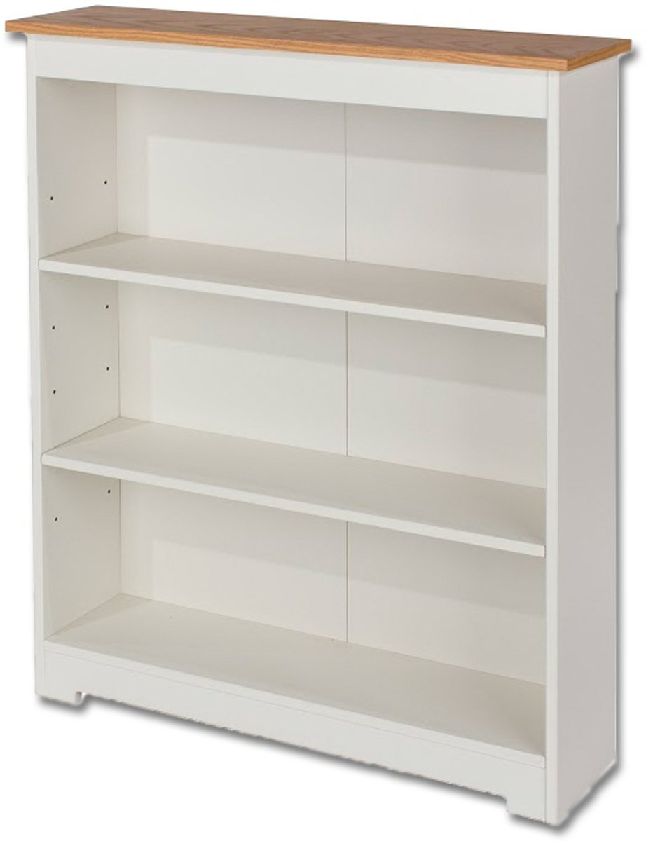 Core Products Colorado Cl918 White Low Wide Bookcase
